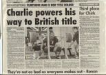 Charlie in the papers
