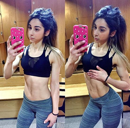Aroosha Nekonam, Anorexic to bodybuilder