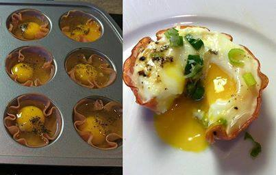 Ham and Egg Protein Cups