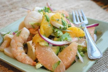 High in protein citrus salad