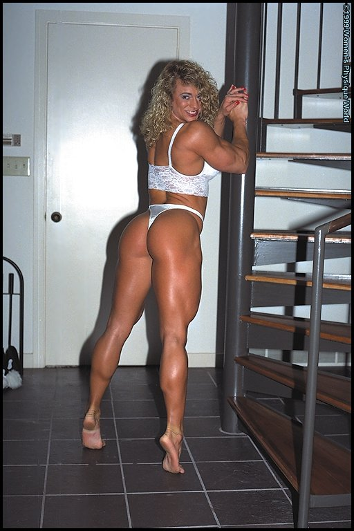 Muscular woman mixed wrestling domination 8