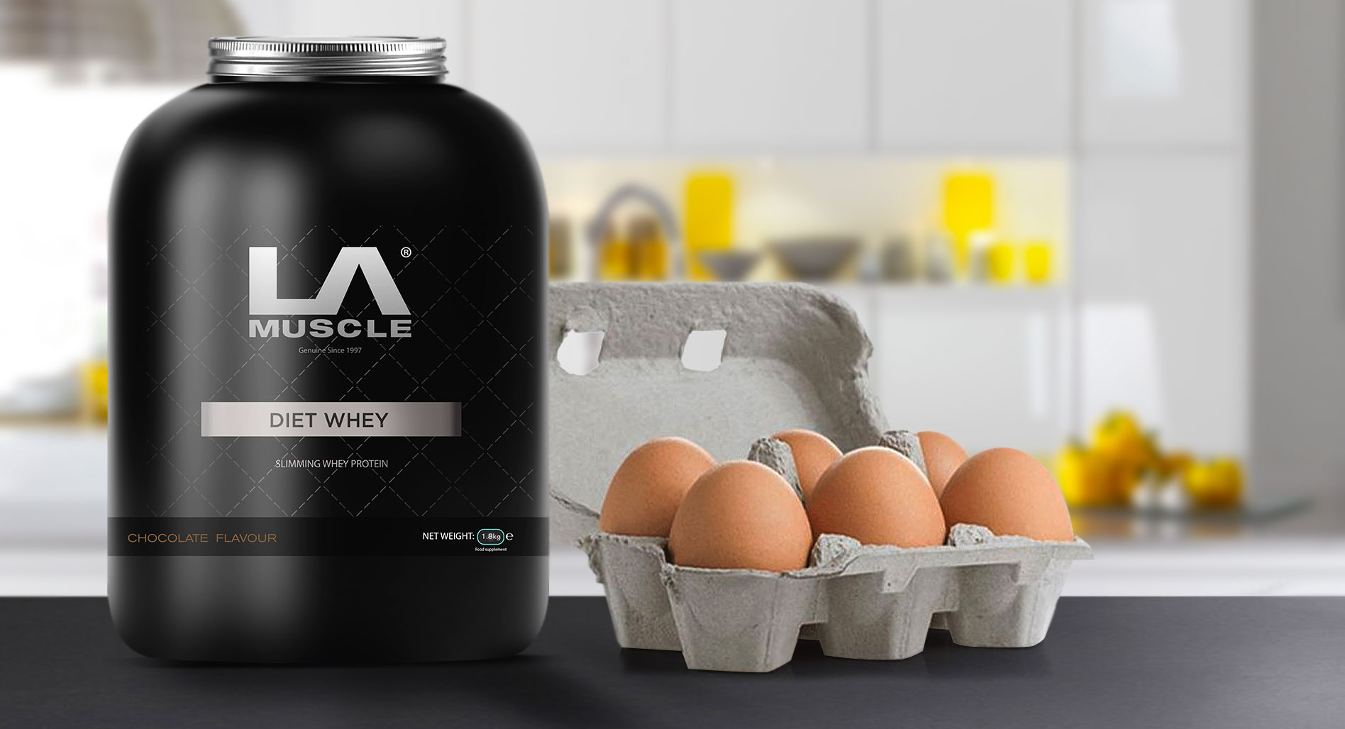 Diet Whey has more protein than 6 eggs