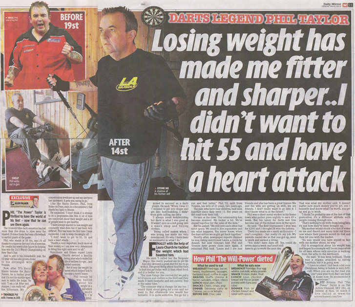 LA Muscle Darts Legend Phil Taylor Talks To Daily Mail