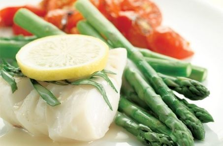 Poached Cod: High in protein dish