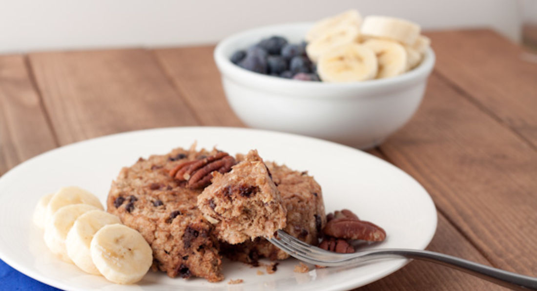 Banana, Quinoa & Choc Chip Breakfast Bake