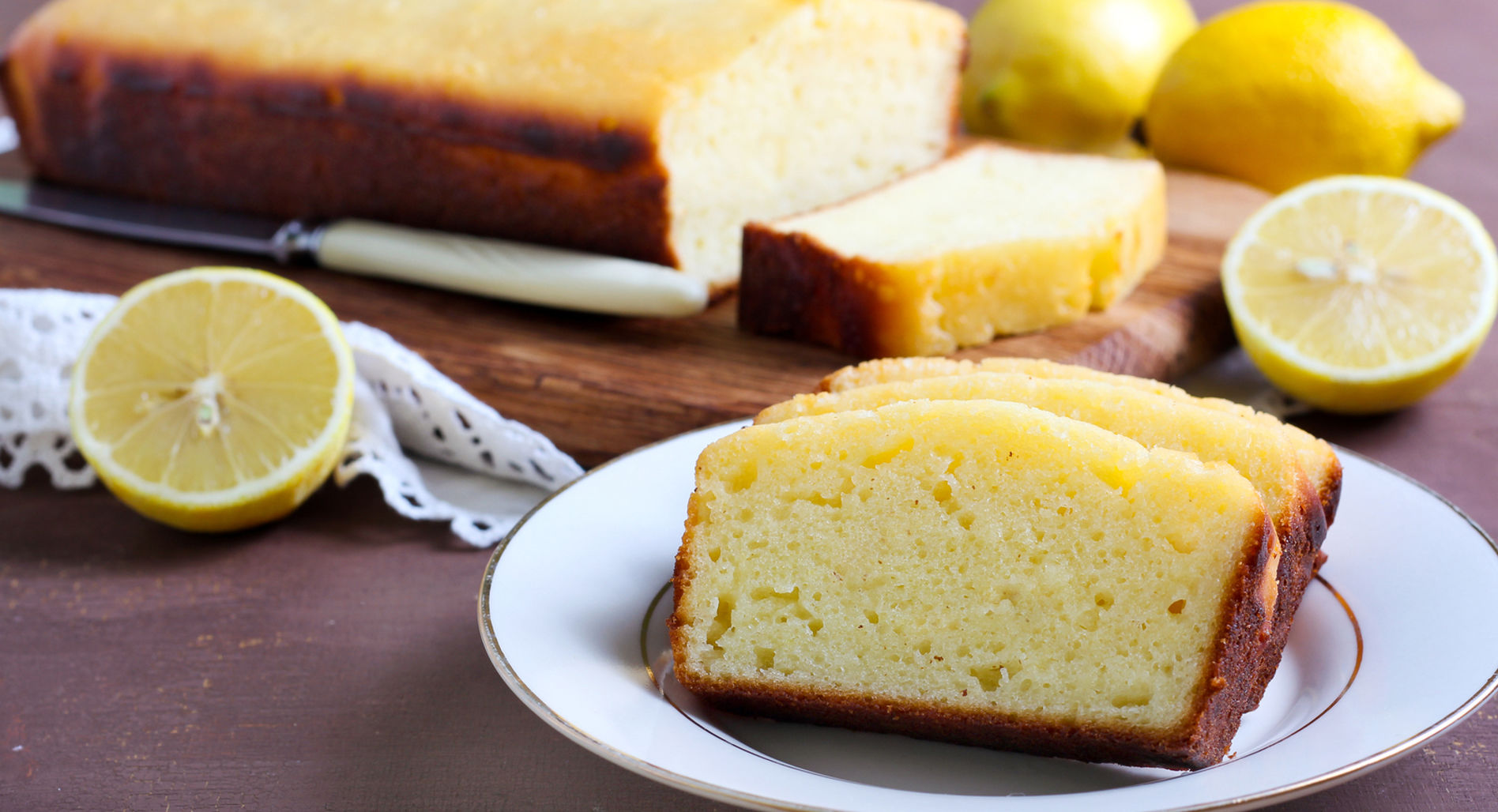 Protein Lemon Drizzle Cake