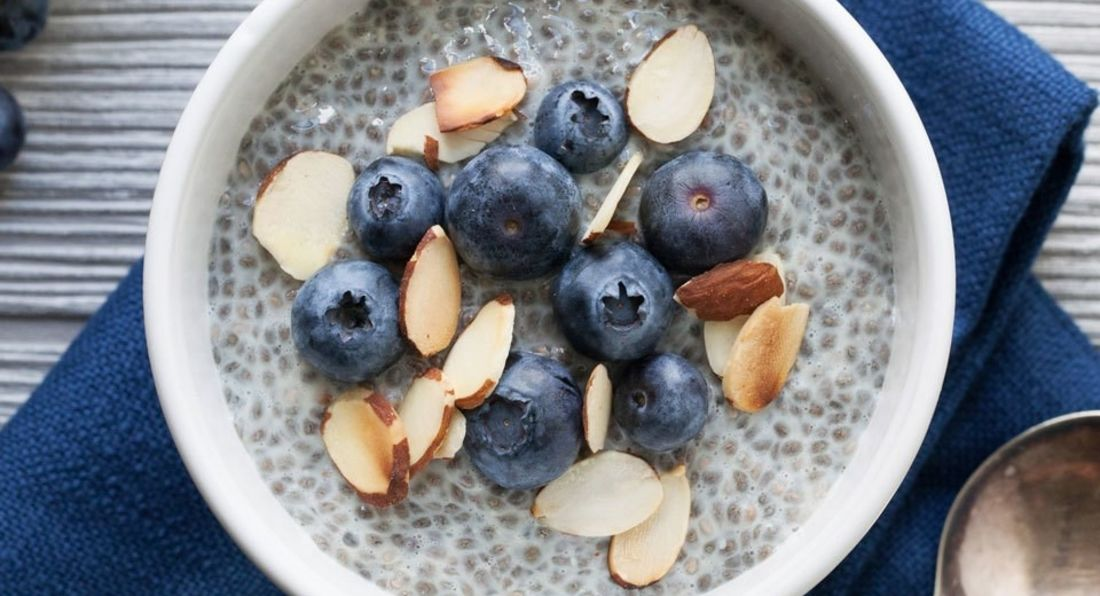 Blueberry Almond Chia Breakfast Bowl