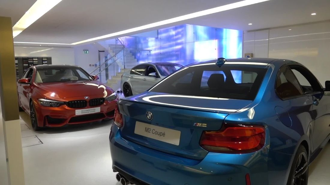 Amazing cars at BMW's flagship London Showroom
