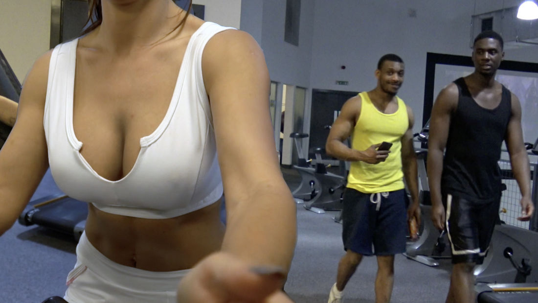HER BREASTS distracted me! Gym dudes RUIN their workout staring at fitness babe