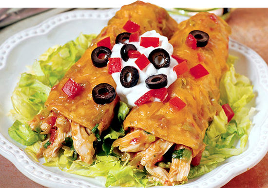 High protein chicken enchiladas