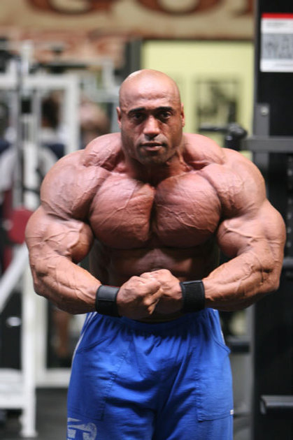 Dennis James, biggest body builder shotrlist