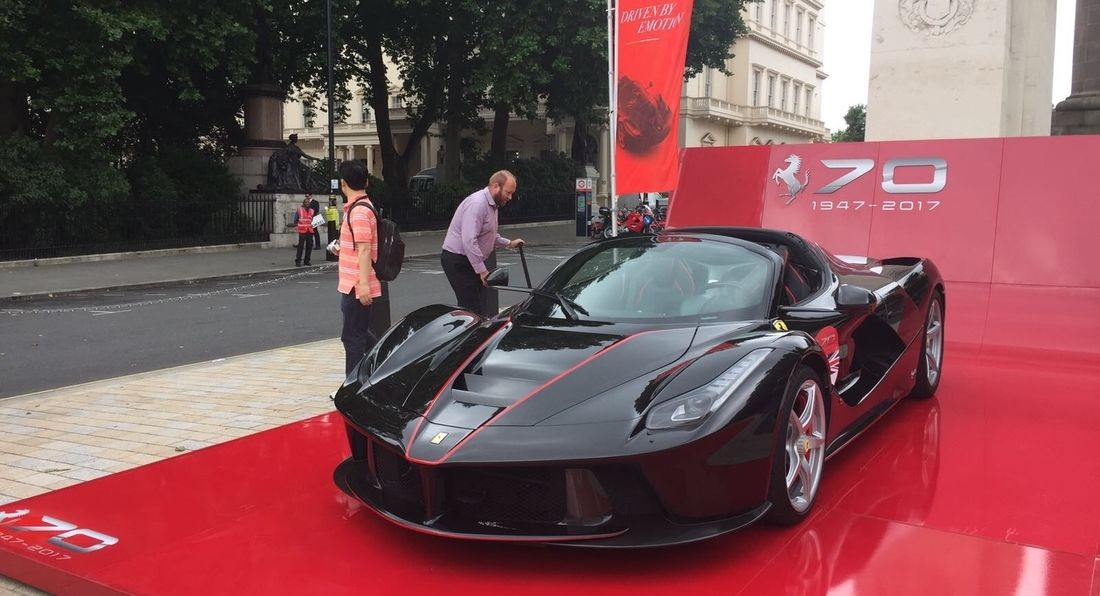 LA Muscle TV at Ferrari's 70th Anniversary Event