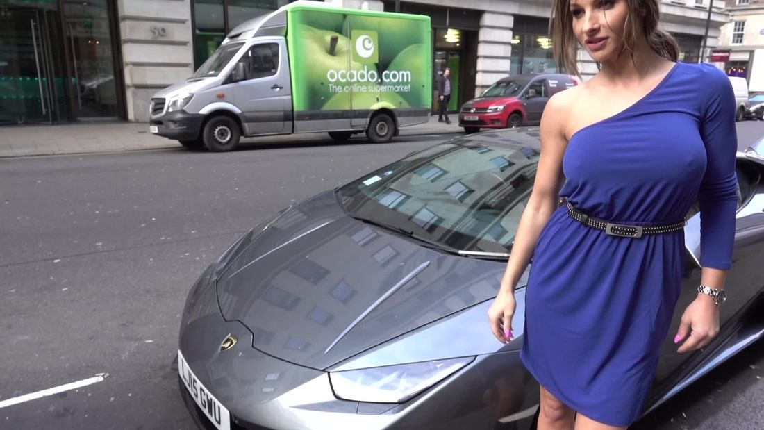Clueless HOT GIRL goes car-spotting in London