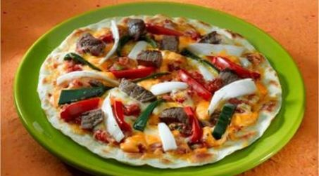 Steak and Veggie Pizza
