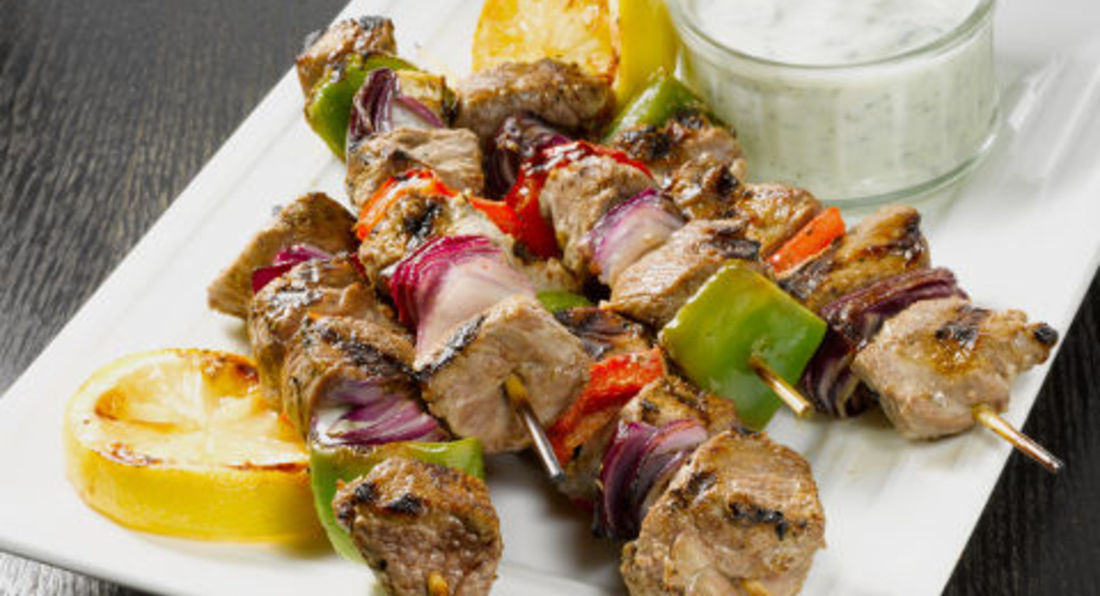 Honey & Mustard Lamb Kebabs With Cucumber Salsa