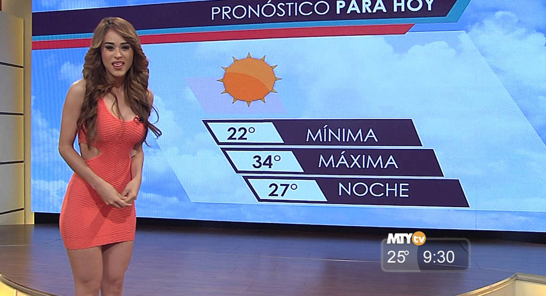 Is this the SEXIEST weather girl EVER?