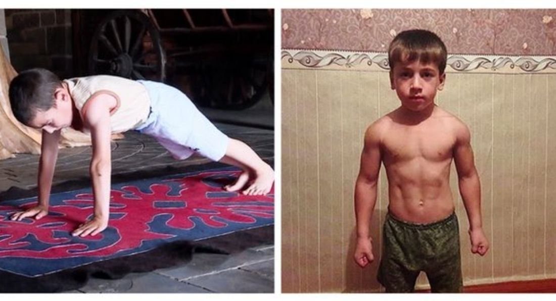 6-Year-Old Boy Sets Incredible Russian Press Up Record