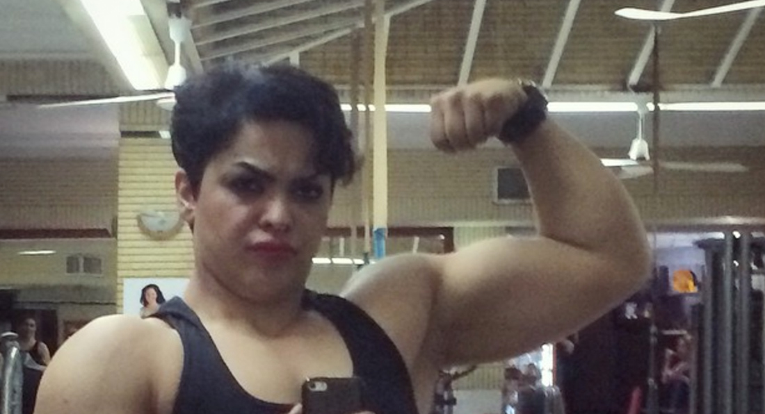 Bodybuilder JAILED for biceps pose!