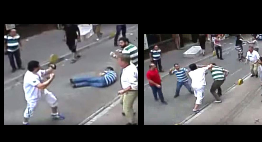 WATCH: Irish Tourist beats 15 Turkish Shopkeepers