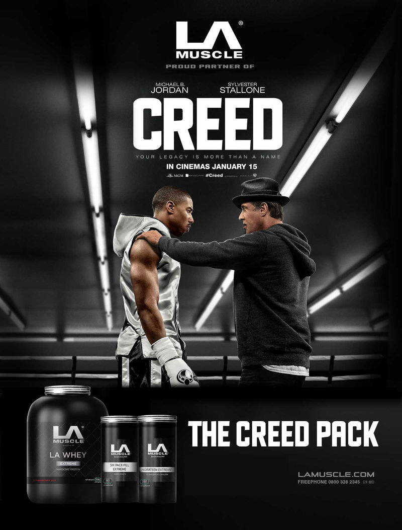 LA Muscle, official partners of Creed the movie