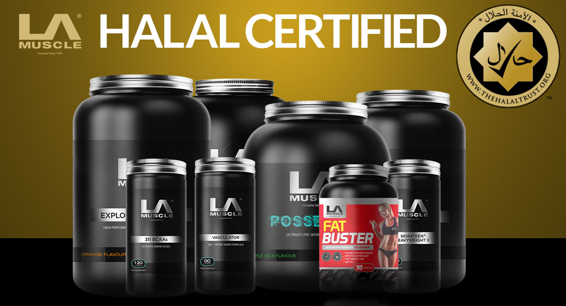 LA Muscle Supplements are certified Halal