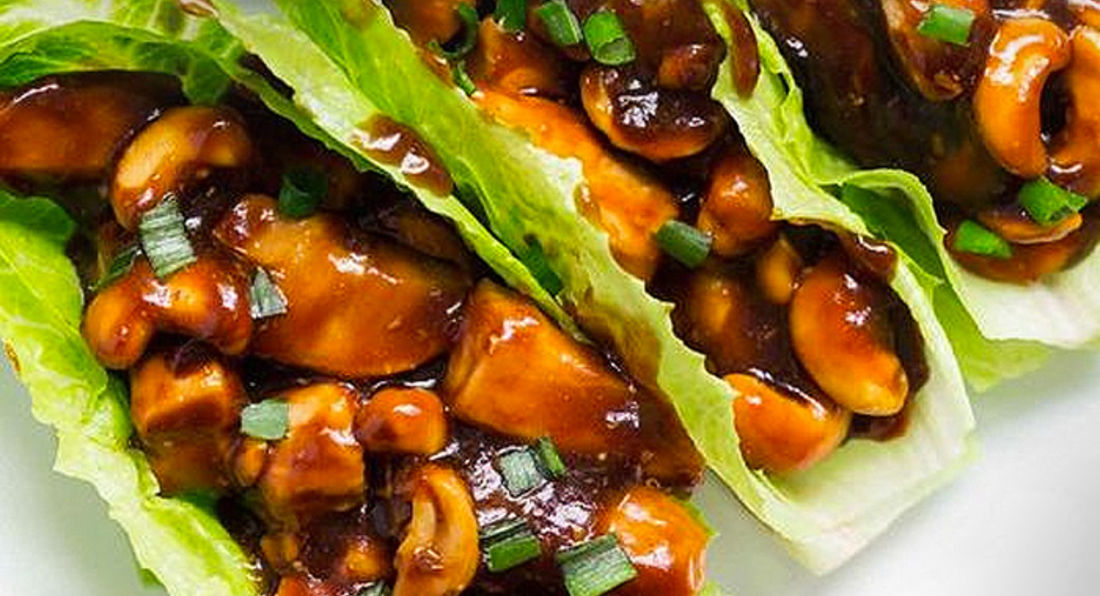 Chicken and Cashew Lettuce Wraps