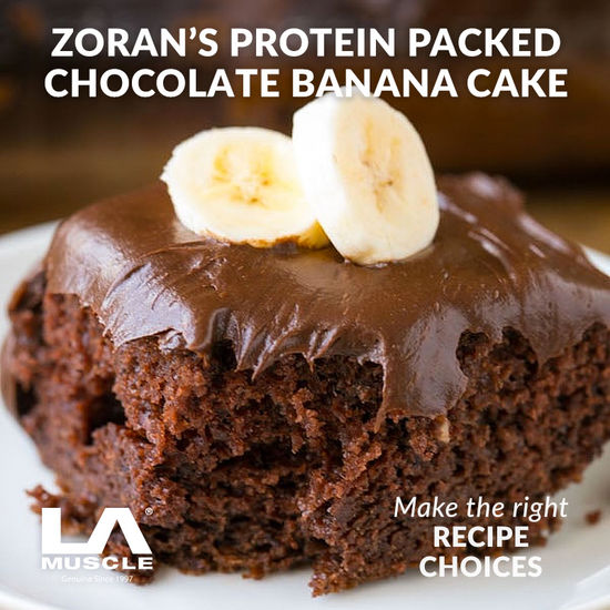 Protein packed banana cake