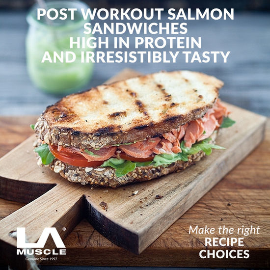 Post Workout Salmon Sandwich