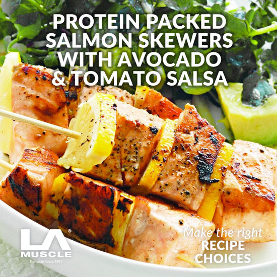Protein Packed Salmon Skewers