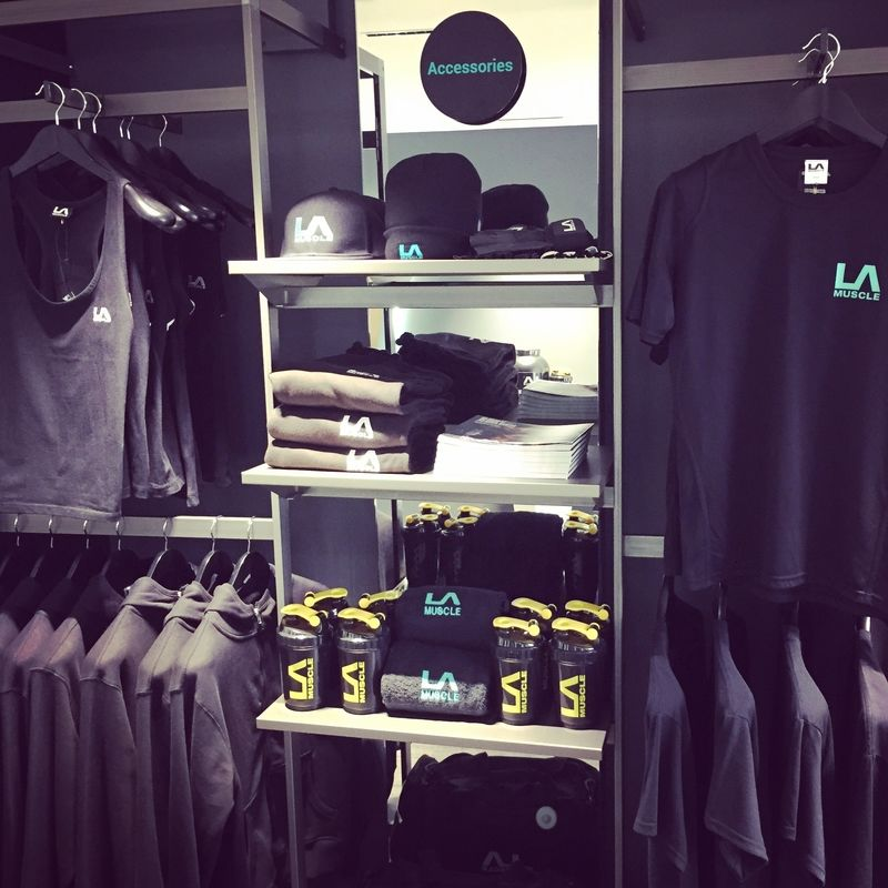 LA Muscle Shop, exclusive clothing