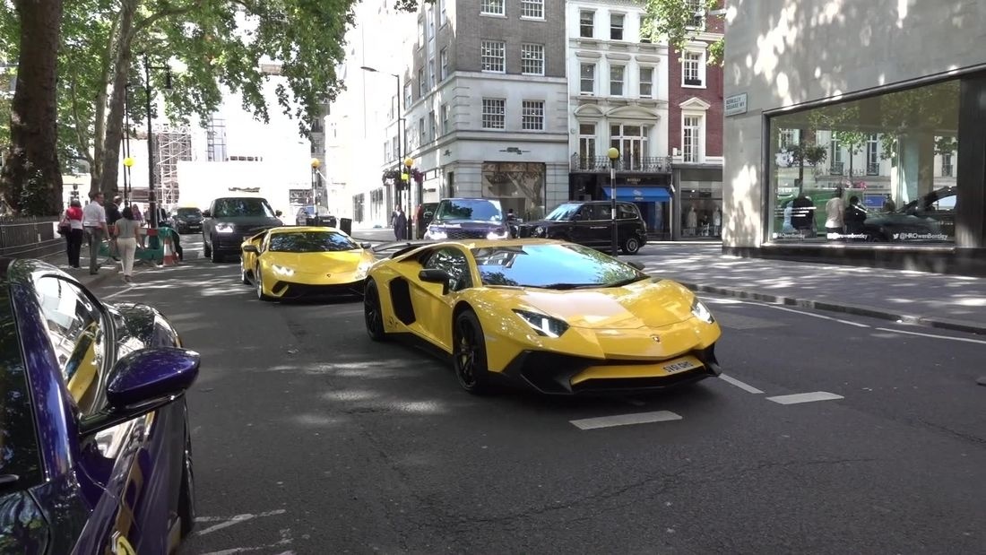Amazing supercars in London during summer 2019