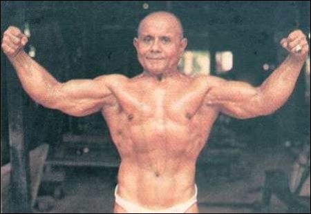 Manohar Aich Bodybuilder in later years