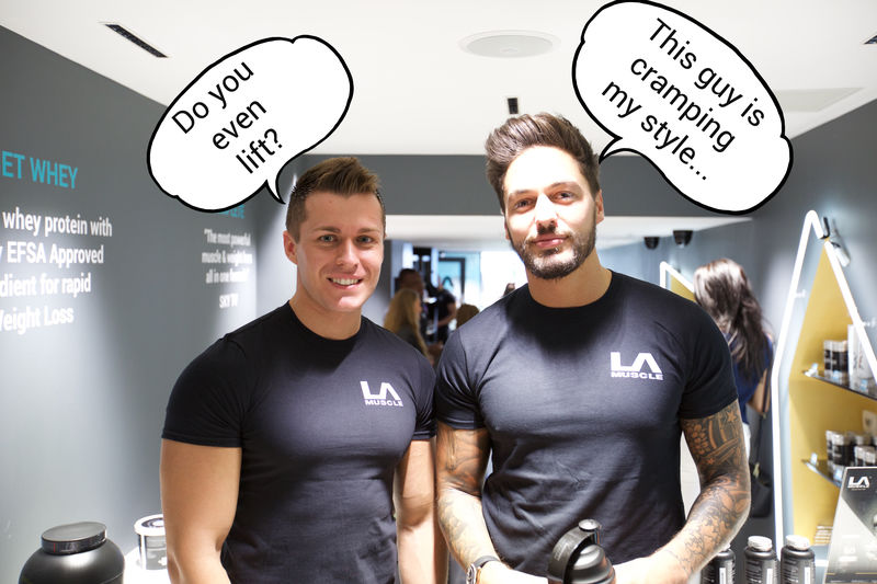 Mario Falcone, TOWIE at the LA Muscle Shop Richmond
