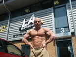 Mark Cameron outside LA Muscle UK