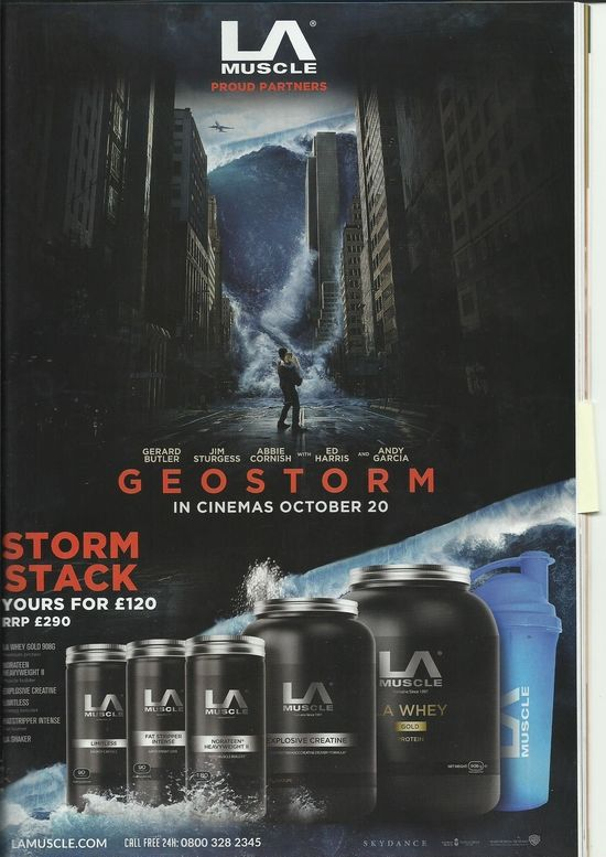 LA Muscle proud partners of new movie Geostorm