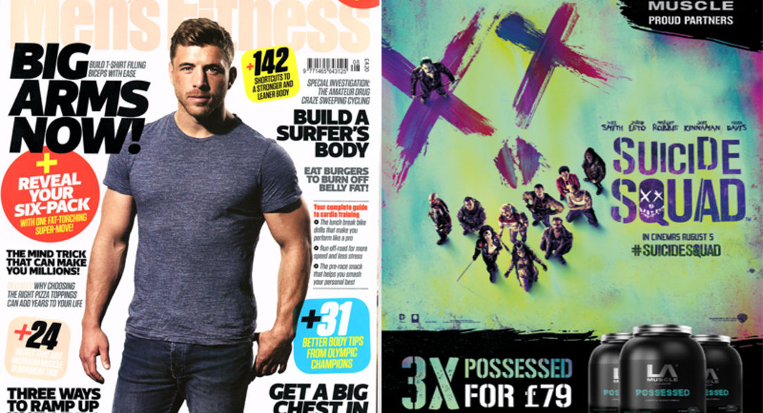 LA Muscle movie partnership featured in Men's Fitness Magazine August 2016