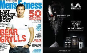 LA Muscle Terminator Movie partnership featured in the June 2015 issue of Men's Fitness Magazine