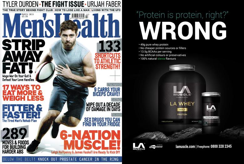la muscle men 39 s health magazine march 2015. Black Bedroom Furniture Sets. Home Design Ideas