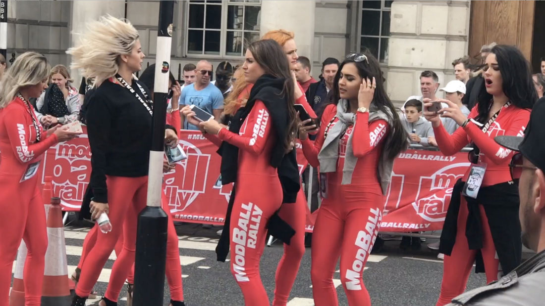 Modball Rally 2017 Line Up UNEDITED! All the supercars ready to go at Pall Mall London