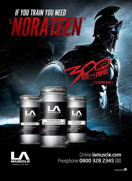 Norateen Heavyweight II, official partner of 300 Movie