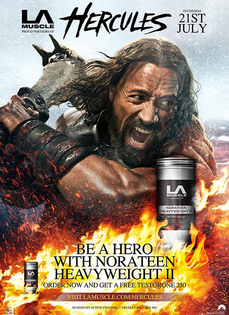 Hercules Movie and Norateen Heavyweight II as official supplement