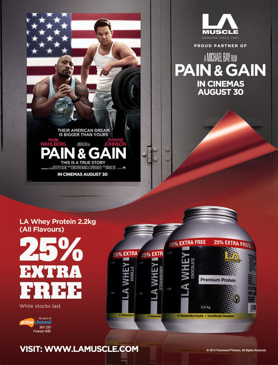 LA Muscle official partners of Pain and Gain