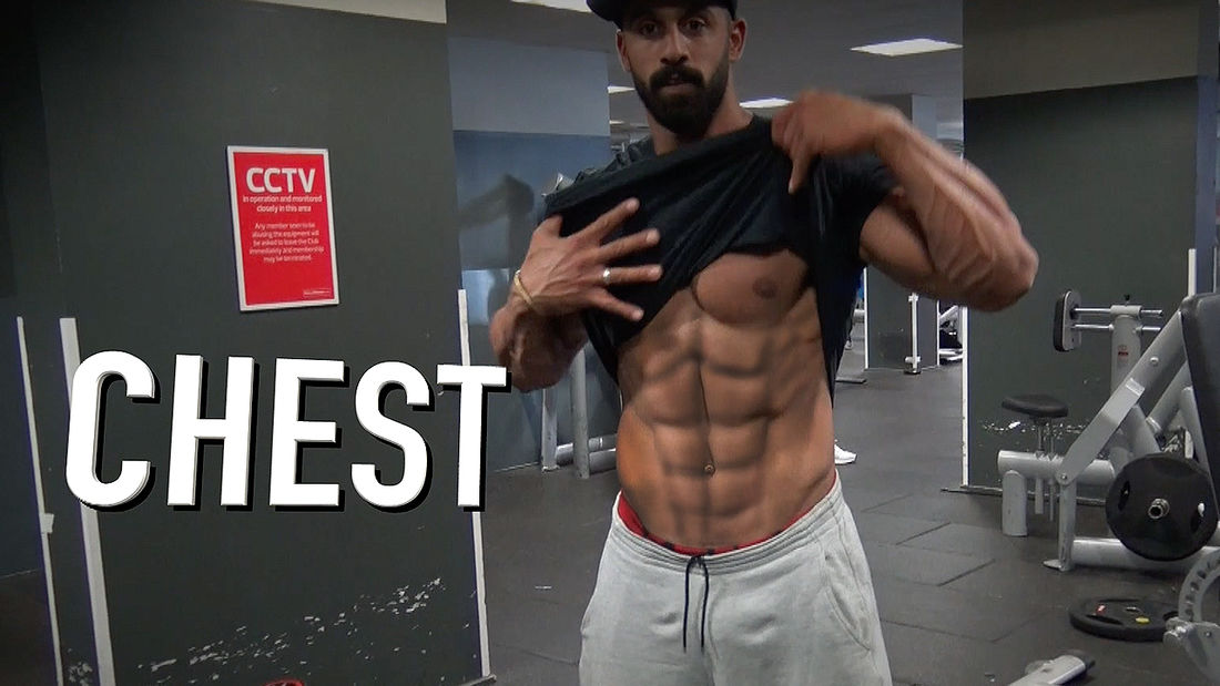 FREAKY RIPPED Bodybuilder Mr Universe Chest & Arms BLAST with Ahmed Rabos