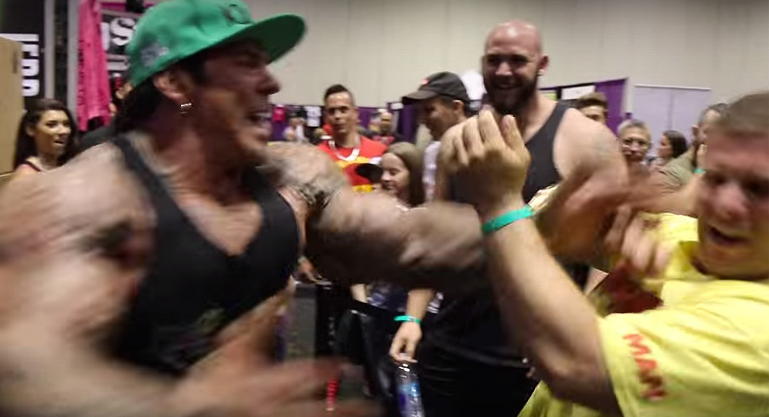 SHOCKING MOMENT huge bodybuilder BEATS UP autistic boy