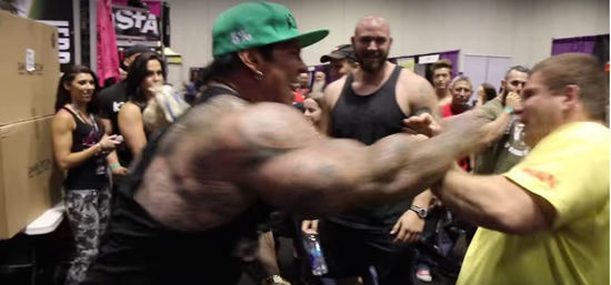 Rich Piana slaps jason Genova, bodybuilders