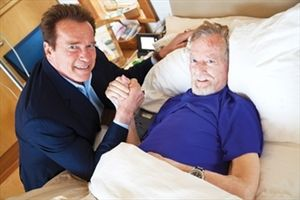 Arnold Schwarzenegger with Robert Kennedy
