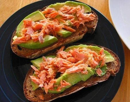 Salmon on Rye Bread