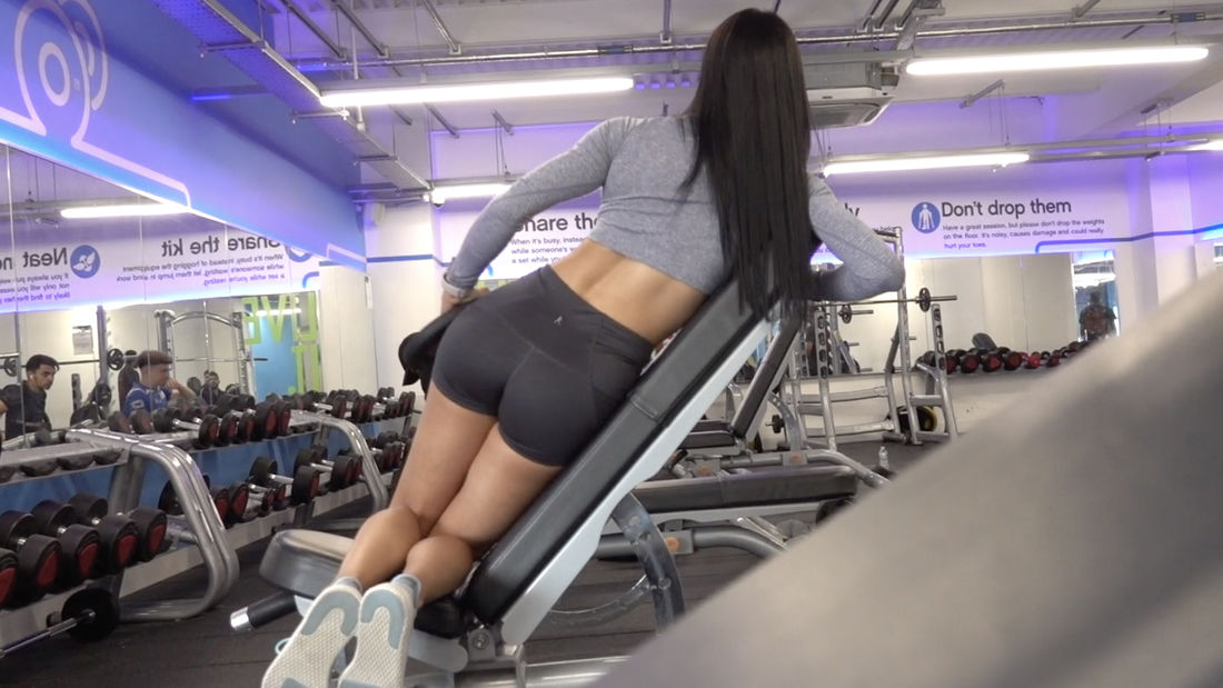 Shoulder Workout with Hot Latina Cynthia