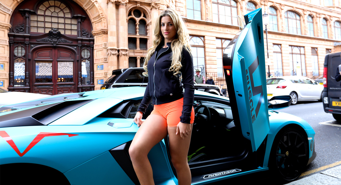 Sofia Shamimi: Fitness Star goes to London in a Lambo!
