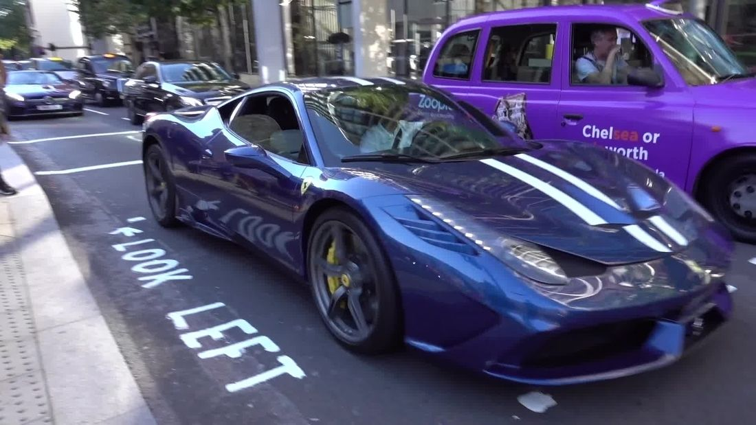 Supercars in London Summer 2018